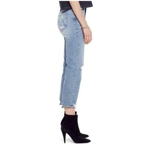 d8b8899c0a MOTHER Jeans - MOTHER The Tomcat Ripped Crop Straight Leg Jeans